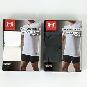 Lot of 2 Under Armour Cotton Stretch Undershirt